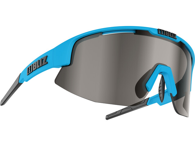 Bliz Matrix M12 Gafas, shiny blue/smoke with silver mirror
